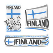 Vector illustration of the logo for Finland