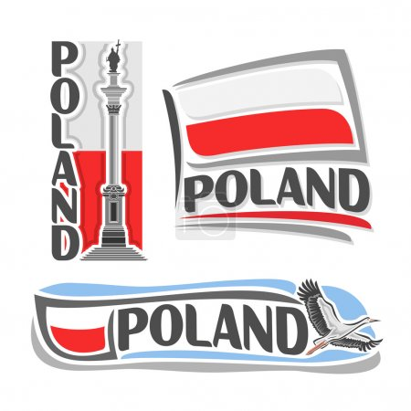 Vector illustration of the logo for Poland