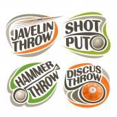 Vector logo for athletics equipment