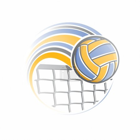 The image of a volleyball ball