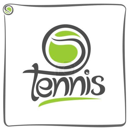 Illustration pour L'image sur le thème du tennis - image libre de droit