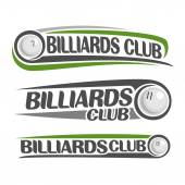 The abstract image on the subject of billiards