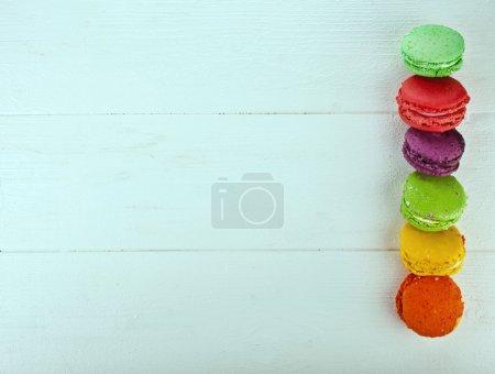 farbenfrohe französische Macarons