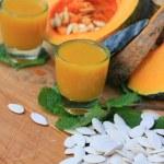 Pumpkin juice with seed...