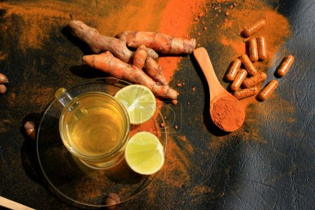 turmeric with lemon tea