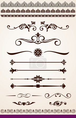 Illustration for Page or text dividers, borders and decorations - Royalty Free Image