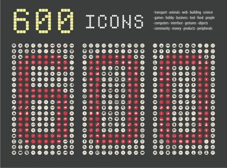 Icons simple sorted set for web and graphics
