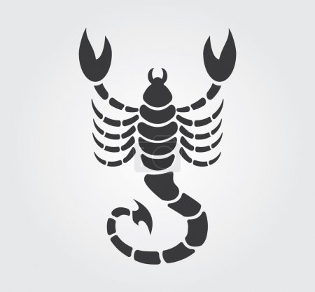 Illustration for Simple illustration for a horoscope, or a tattoo. The stylized image of a scorpion. - Royalty Free Image