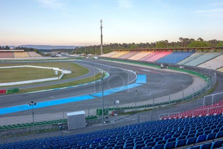 Photo for Hockenheim, Germany - April 22, 2014: Racetrack named Hockenheimring - view of the infield - Royalty Free Image