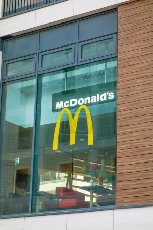 McDonalds fast food restaurant window