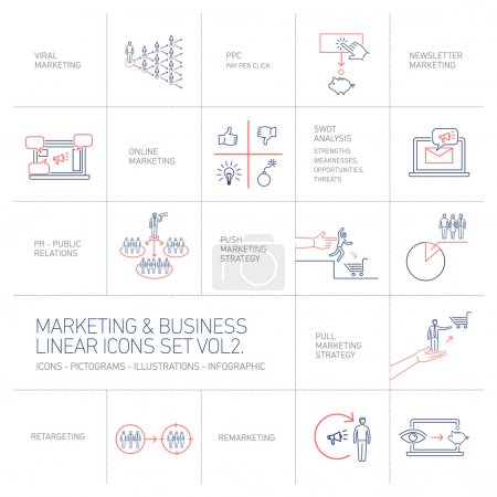 vector marketing and business icons