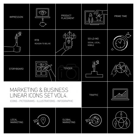 marketing and business icons set