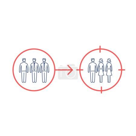 Conceptual vector retargeting icon