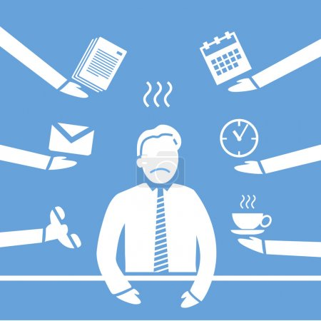 Stress in business icon