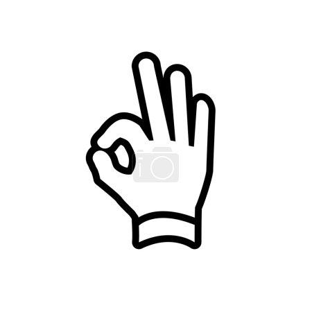 Hand ok gesture icon