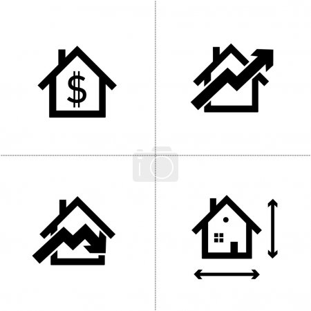 Real estate houses icons