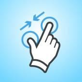 hand pinch gesture icon