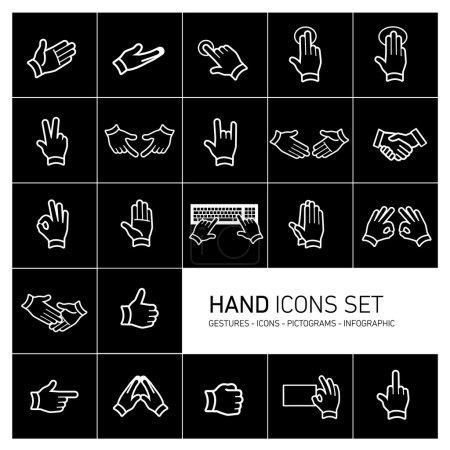 Hand icons set