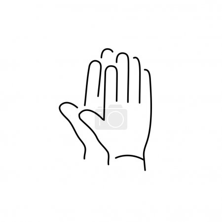 linear icon of clapping hands