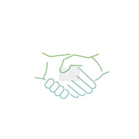 Vector modern flat design linear icon of handshake...