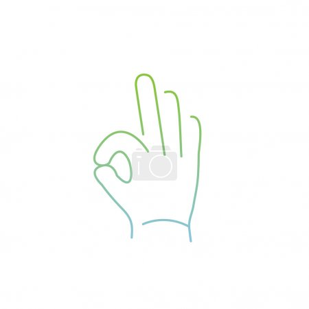 icon of okay hand gesture