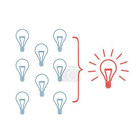 Vector faciliting skills icon of creating one big ...