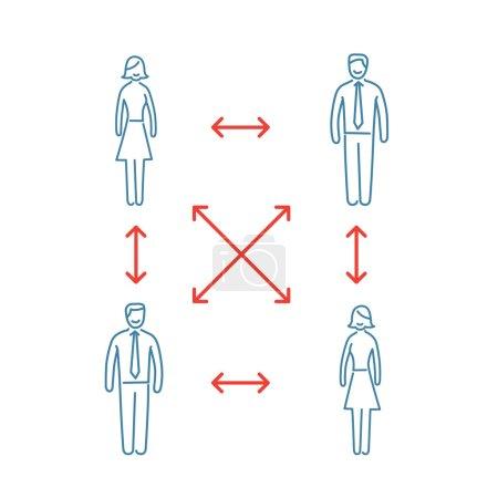 Vector interpersonal relationship skills icon