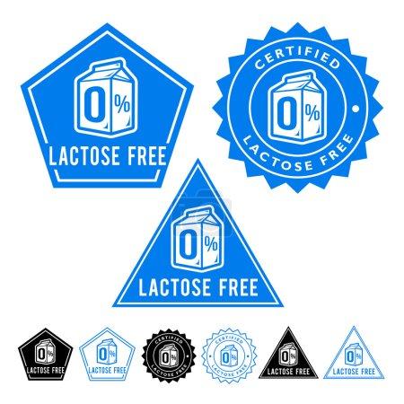 Free Lactose Seals Icons Set