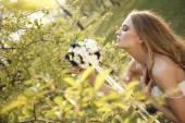 Stunning hippie bride