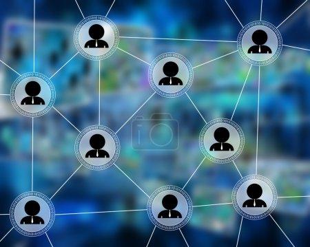 Photo pour De nombreuses images abstraites sur le thème des ordinateurs, d'Internet et de la haute technologie . - image libre de droit