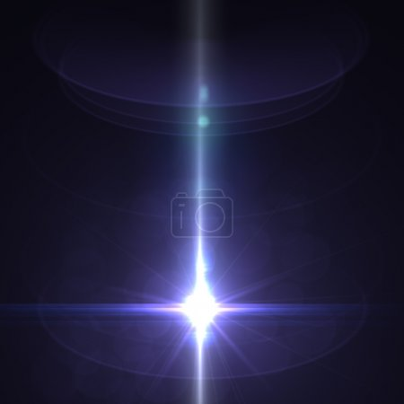 Photo for Star with lens flare and bokeh effect made in 3d software - Royalty Free Image
