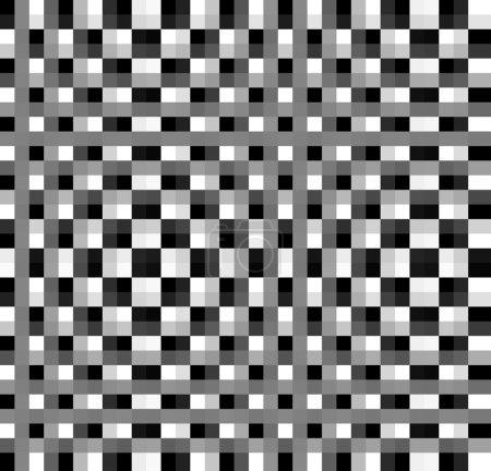 Photo pour Avion à carreaux noir-blanc fabriqué dans un logiciel 2D - image libre de droit