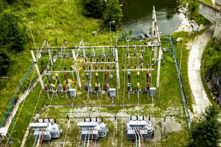 Voltage transformers of hydroelectric power statio...