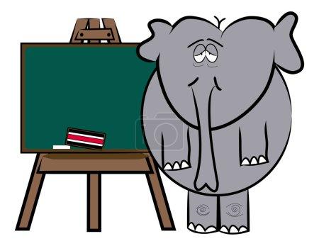 Drained elephant teacher