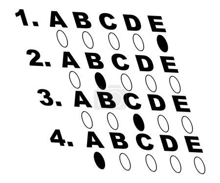 Multiple choice style test