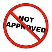 Not approved symbol with words not approved - vector