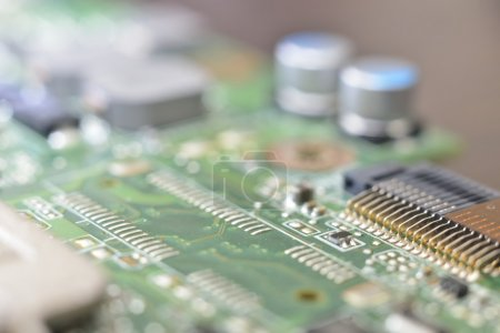 Photo for Programming microcontrollers (innovative technologies background ) - Royalty Free Image
