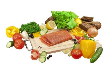 isolated fresh vegetables