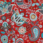 Paisley seamless pattern Floral background in ethnic style