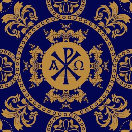 Classic orthodox seamless pattern