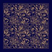 Ornamental Paisley pattern design for pocket square textile silk shawl