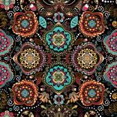 Floral seamless pattern Ornamental vintage wallpaper