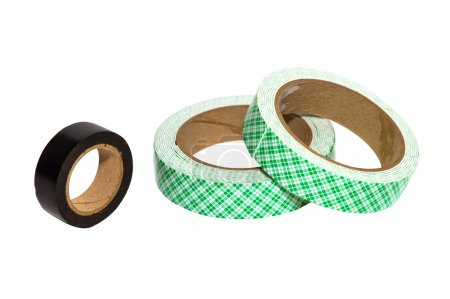 Photo for The Masking tape on white isolate with clipping paths for decorate project. - Royalty Free Image