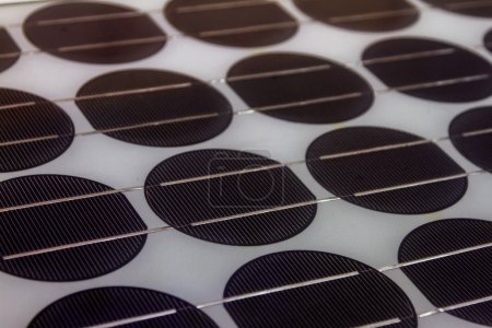 Photo for Solar panels of science on background. - Royalty Free Image