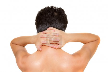 The body part on white isolate background with clipping path.