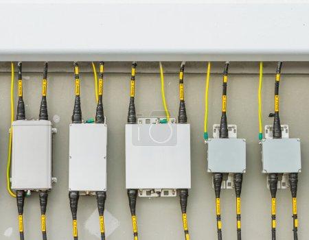 Main circuit box breaker in factory.