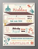 Vintage wedding party invitation card