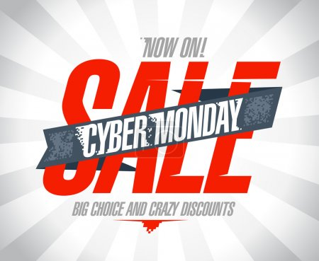 Illustration for Cyber monday sale design. - Royalty Free Image