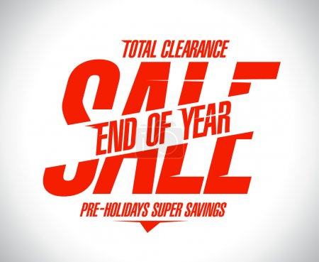 End of year final sale design.