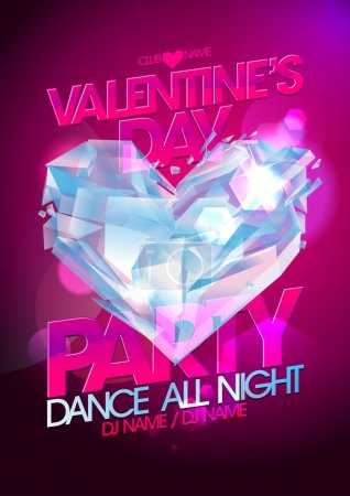 Valentine day party with diamond heart.
